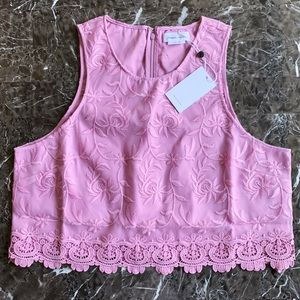 NEW Lover + Friends Revolve Embroidered Top XL